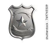 Blank Metallic Badge  Silver...