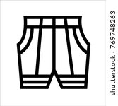 pant vector outline icon   Shutterstock .eps vector #769748263