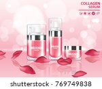 rose collagen vitamin skin care ... | Shutterstock .eps vector #769749838
