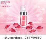 rose collagen vitamin skin care ... | Shutterstock .eps vector #769749850