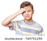 stress and headache   teen boy...   Shutterstock . vector #769751290