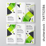 tri fold business brochure... | Shutterstock .eps vector #769752586
