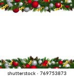 vector christmas fir decoration ... | Shutterstock .eps vector #769753873