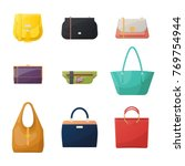 set of isolated women stylish... | Shutterstock .eps vector #769754944