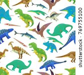 seamless pattern with... | Shutterstock .eps vector #769755100