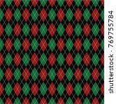 argyle diamond pattern... | Shutterstock .eps vector #769755784