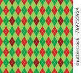 argyle diamond pattern... | Shutterstock .eps vector #769755934