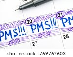 reminder pms in calendar with... | Shutterstock . vector #769762603