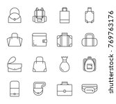 bags set of vector icons | Shutterstock .eps vector #769763176