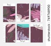 hand drawn creative universal... | Shutterstock .eps vector #769768900