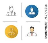 office worker icon. flat design ... | Shutterstock .eps vector #769771618