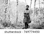 african american girl at yellow ... | Shutterstock . vector #769774450