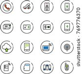 line vector icon set   phone... | Shutterstock .eps vector #769776370