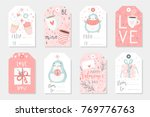 set of 8 cute ready to use gift ... | Shutterstock .eps vector #769776763
