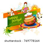 illustration of happy pongal... | Shutterstock .eps vector #769778164