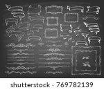 vintage calligraphy chalkboard... | Shutterstock .eps vector #769782139