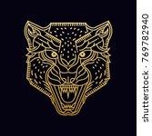 cheetah   wolf   wild animal  ... | Shutterstock .eps vector #769782940