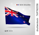 new zealand 3d style glowing... | Shutterstock .eps vector #769783558