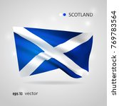 scotland 3d style glowing flag... | Shutterstock .eps vector #769783564