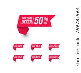special offer shopping price tag | Shutterstock .eps vector #769785964