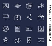 set of 16 trade outline icons... | Shutterstock .eps vector #769789213