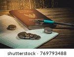 accountant verify the saving...   Shutterstock . vector #769793488