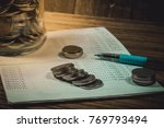 accountant verify the saving...   Shutterstock . vector #769793494