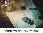 accountant verify the saving...   Shutterstock . vector #769793500