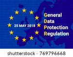 gdpr   general data protection... | Shutterstock .eps vector #769796668