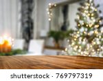 desk space and christmas time  | Shutterstock . vector #769797319