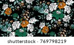 seamless floral pattern in... | Shutterstock .eps vector #769798219