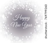 happy new year. card for your... | Shutterstock .eps vector #769799260