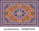 colorful oriental mosaic tabriz ... | Shutterstock .eps vector #769805344