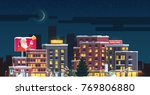 merry christmas   new year... | Shutterstock .eps vector #769806880