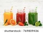 healthy fruit and vegetable... | Shutterstock . vector #769809436