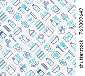 hygiene seamless pattern with... | Shutterstock .eps vector #769809649