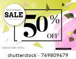 sale advertisement banner with... | Shutterstock .eps vector #769809679
