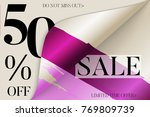 sale advertisement banner on...   Shutterstock .eps vector #769809739