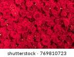 beautiful natural red roses...   Shutterstock . vector #769810723