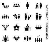 origami style icon set  ... | Shutterstock .eps vector #769813696