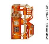 the letter b of the latin... | Shutterstock .eps vector #769814134