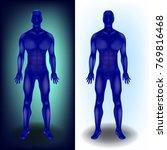 human body   full length. 3d... | Shutterstock .eps vector #769816468