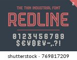 numeric and symbol font red... | Shutterstock . vector #769817209