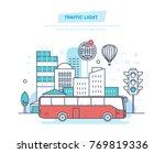 urban landscape  street city ... | Shutterstock .eps vector #769819336