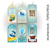 tags with new year and... | Shutterstock .eps vector #769819816