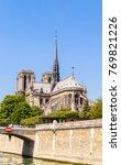 notre dame de paris catholic... | Shutterstock . vector #769821226