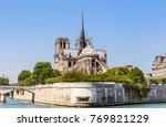 notre dame de paris catholic... | Shutterstock . vector #769821229