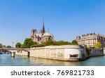 notre dame de paris catholic... | Shutterstock . vector #769821733