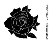 black silhouette roses and... | Shutterstock .eps vector #769832068