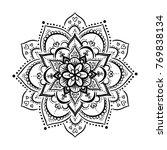 round mandala on white isolated ... | Shutterstock .eps vector #769838134